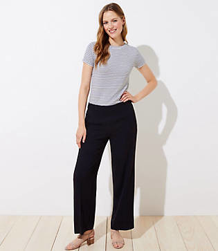 LOFT Tall Wide Leg Pull On Pants