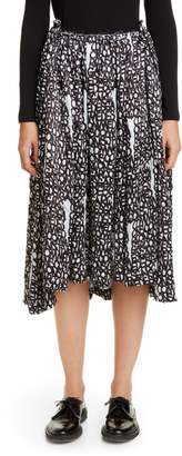 64005852c23f Comme des Garcons Logo Print Satin Midi Skirt