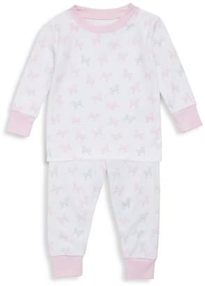 Kissy Kissy Baby Girl's Two-Piece Poodle Pajama Top & Pants Set