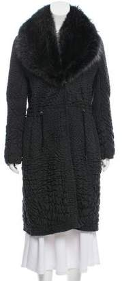 Ermanno Scervino Virgin Wool Fur-Trimmed Coat