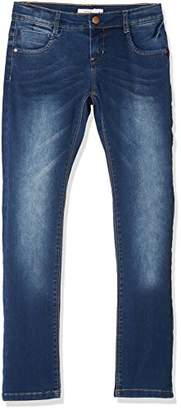 Name It Girl's Nkfrose Dnmtatiana 3002 Pant Noos Jeans, (Dark Blue Denim)