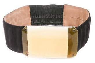 Fendi Embellished Suede Waist Belt