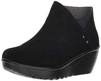 Skechers Women's Parallel - Ditto - Asymmetrical Collar Suede Bootie Ankle Boot