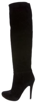 pradaPrada Suede Over-The-Knee-Boots