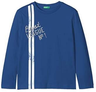 Benetton Boy's T-Shirt L/s T-Shirt,(Manufacturer Size: Small)