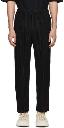 Issey Miyake Homme Plisse Black Tailored Pleats Trousers