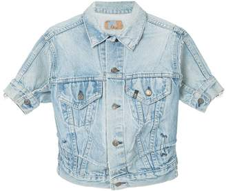 R 13 cropped denim jacket