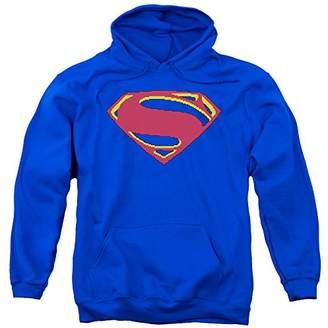 Trevco Men's Superman Man Of Steel Hoodie Sweatshirt