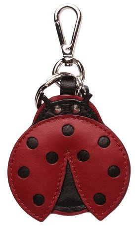 M Z WallaceLady Bug Charm Red Leather