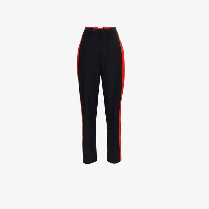 Annam stripe wool cashmere blend trousers