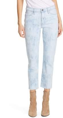 Frame Le High Raw Hem Ankle Straight Leg Jeans