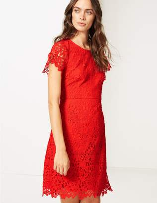 Marks and Spencer Lace Short Sleeve Skater Dress