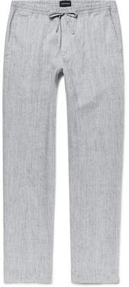 Club Monaco Beach Slim-Fit Mélange Slub Linen-Blend Drawstring Trousers