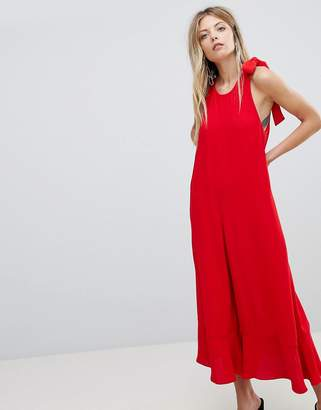 French Connection Crepe Wide Leg Bow Jumpsuit