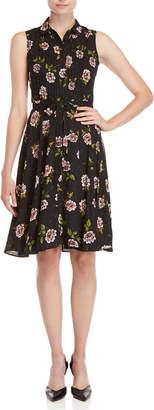 Nanette Lepore Nanette Floral Belted Shirtdress