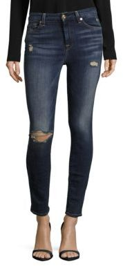 7 For All MankindPre-Distressed Skinny Jeans