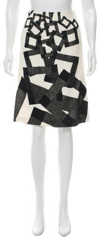 Carolina Herrera Carolina Herrera Knee-Length Patterned Skirt