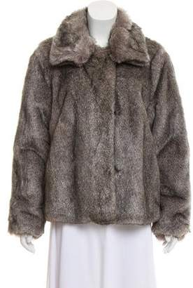 Rebecca Taylor Faux Fur Pointed Collar Jacket w/ Tags