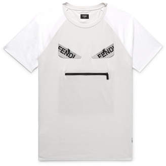 Fendi Bag Bugs Logo-Appliquéd Cotton-Jersey T-Shirt