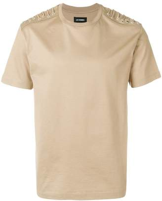 Les Hommes lace-up detail T-shirt