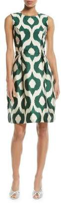 Sachin + Babi Divan Batik-Print Sleeveless Sheath Dress