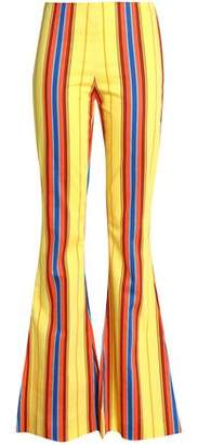 Moschino Striped Twill Flared Pants