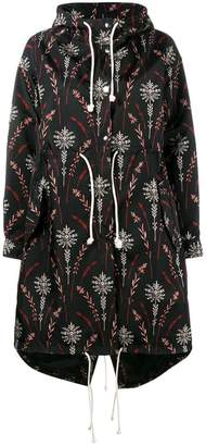 Creatures of the Wind printed nylon parka