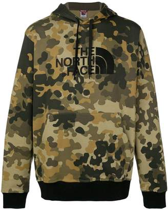 The North Face camouflage print logo hoodie