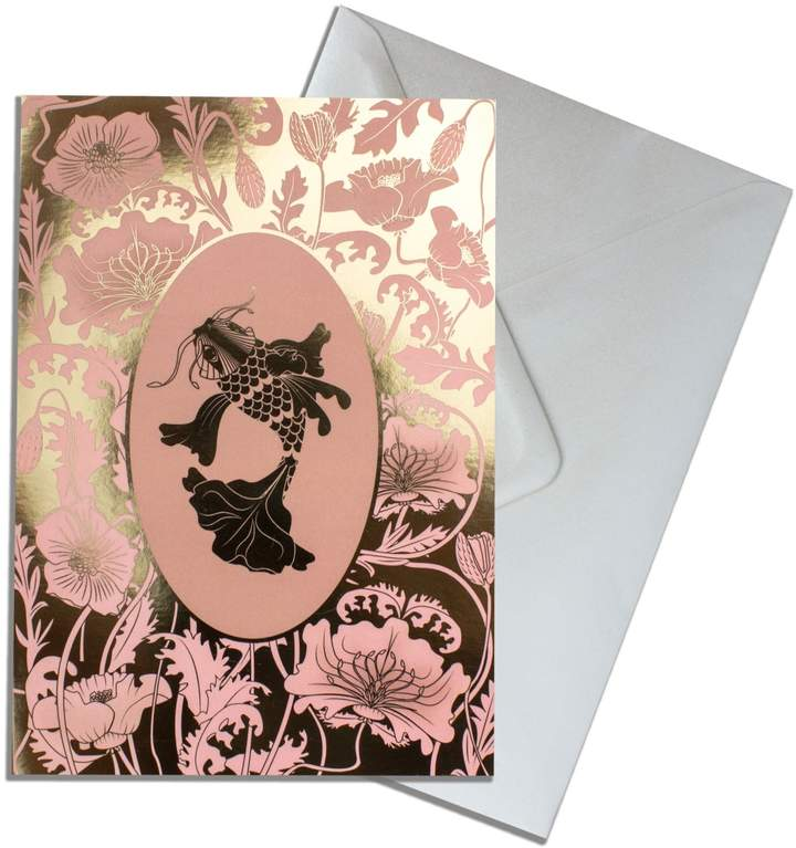 The Curious Department - Elemental Koi Gold Greeting Cards Pack of 10