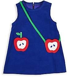 Florence Eiseman Little Girl's Apple Jacks Sleeveless Corduroy Dress