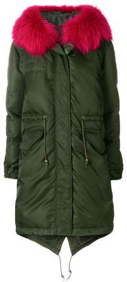 Mr & Mrs Italy fur collar padded parka
