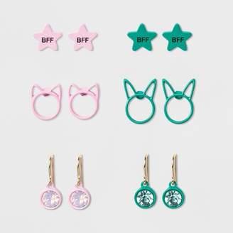 Cat & Jack Girls' 2pk BFF Cat & Bunny Earrings One Size