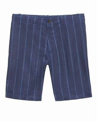 "Banana Republic 9"" Linen Aiden Slim Stripe Short"