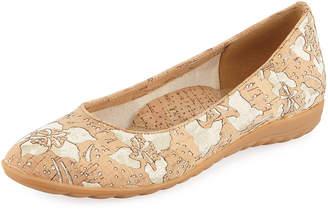 Sesto Meucci Beryl Flower Cork Comfort Flat