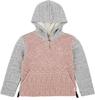 Scotch R'Belle KIDS' COLORBLOCKED JACQUARD-KNIT COTTON HOODIE