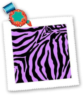 3dRose qs_26083_10 Patricia Sanders Creations - Purple and Black Zebra Print - Quilt Squares