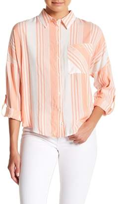 Naked Zebra Striped One Pocket Long Sleeve Shirt