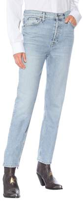 RE/DONE High-Rise Ankle Crop straight jeans