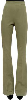 Pierre Balmain High Rise Stretch Twill Flared Pants