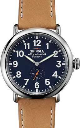 Shinola 47mm Runwell Leather Strap Watch $550 thestylecure.com