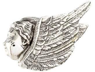 Rebecca Collins Metal Angel Scarf Ring
