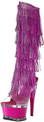 Pleaser USA Women's Illu2017rsf/fstpu/m Boot Tinted TPU Fuchsia, 6 M US