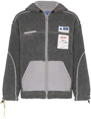 Ader Error reverse fleece hooded jacket