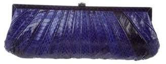 Kotur Snakeskin Frame Clutch