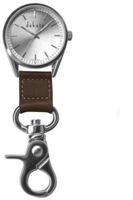 Dakota Silver Classic Men's Dress Clip Watch