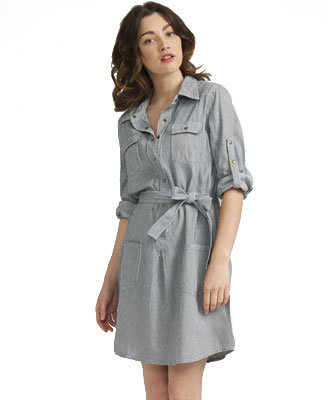 Love21 Life In ProgressTM Pinstripe Denim Dress