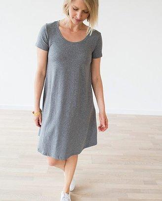 Women Scoopneck Pima Dress $78 thestylecure.com