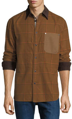 Rag & Bone Men's Plaid Chore Work Wear Shirt