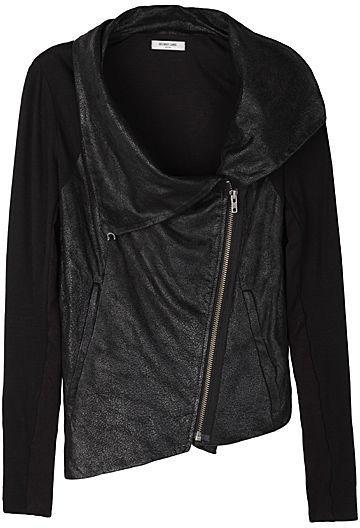 Helmut Lang Crackled Leather Combo Jacket