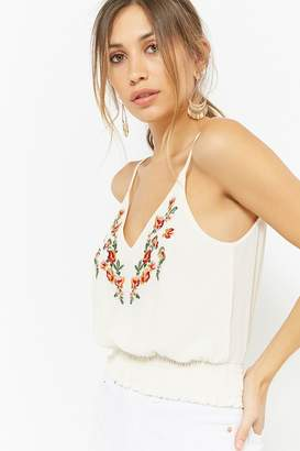 Forever 21 Floral Embroidered Cami